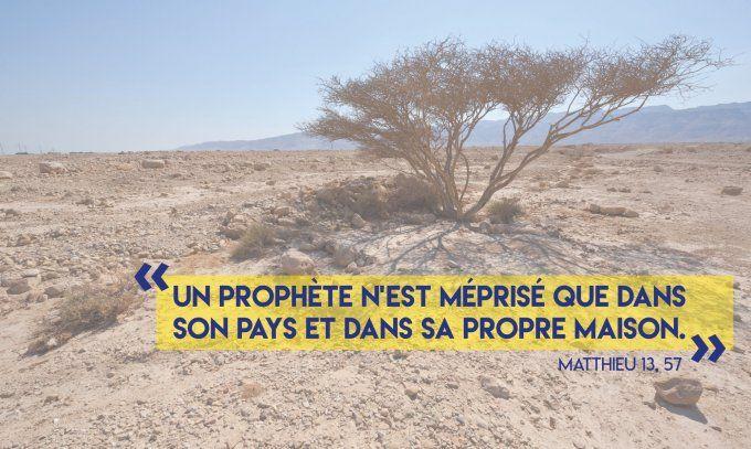 Le 03/08/18 : « Un prophète n'est méprisé que dans son pays » (Mt 13,  54-58)   Le prophete, Évangile, Pays