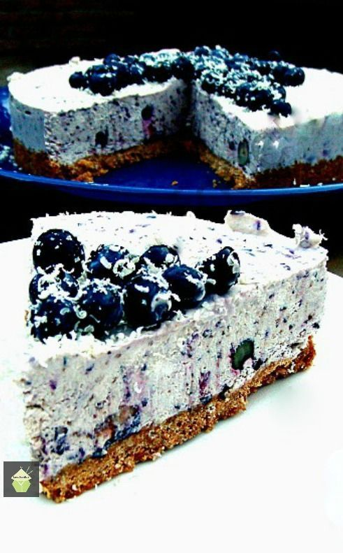 Blueberry and White Chocolate Cheesecake. Delicious! #blueberry #white chocolate #cheesecake #nobake #dessert