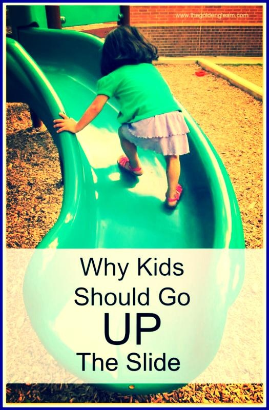 "I HATED hearing ""up the steps,down the slide"" on the playground!"