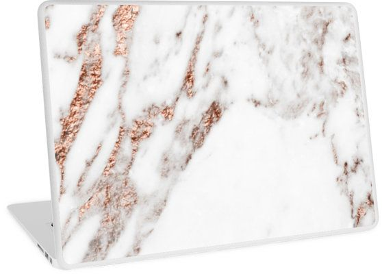 A gray marble with rose gold glitter veining. • Also buy this artwork on laptop covers, apparel, kids clothes, and more. Laptop skin for mac or PC.