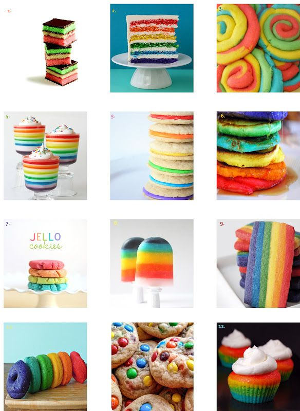 Rainbow Dessert Round-Up