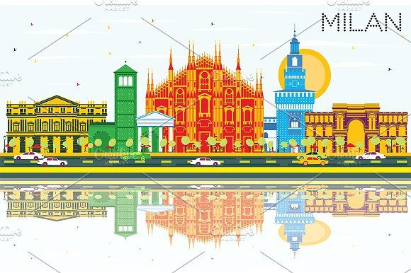 #Milan #Skyline by Igor Sorokin on @creativemarket