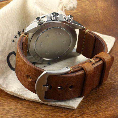 Handmade Vintage 403 Leather Minimalist Watch Strap (18mm, 20mm, 22mm, 24mm)