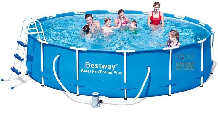 BESTWAY PISCINA ROTONDA CON TELAIO STEEL PRO FRAME CM. 427X100h. MOD. 56305 https://www.chiaradecaria.it/it/piscine-con-telaio/1639-bestway-piscina-rotonda-con-telaio-steel-pro-frame-cm-427x100h-mod-56305-6942138911268.html