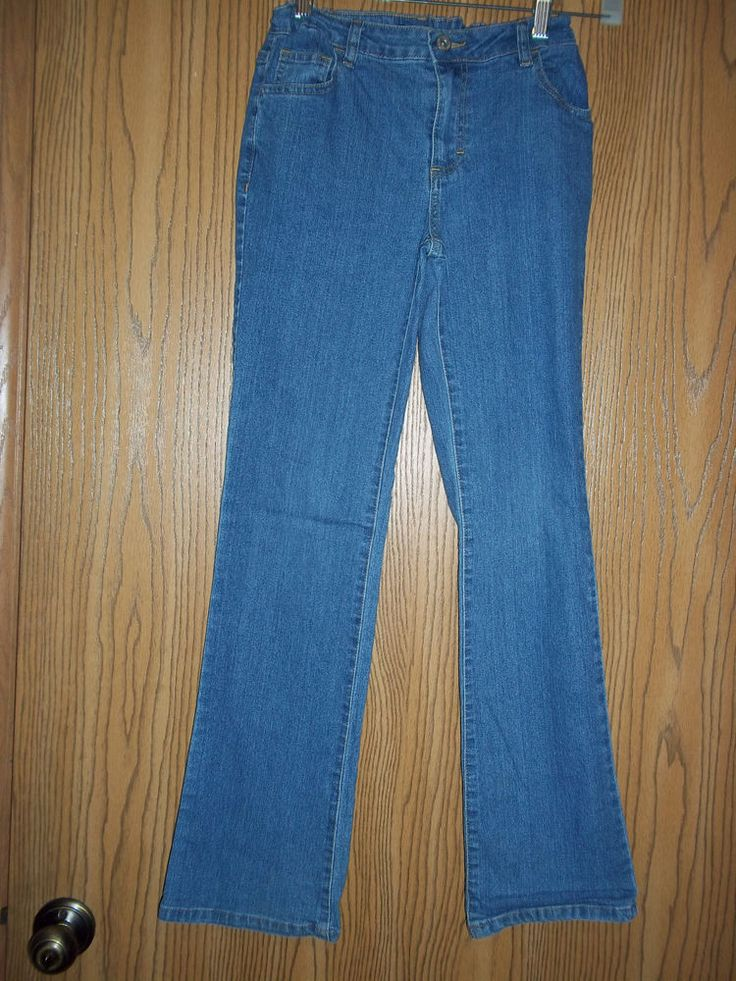 Faded Glory Jeans Girls Denim Pants Size 14 Adjustable Waist  #FadedGlory #CasualPants