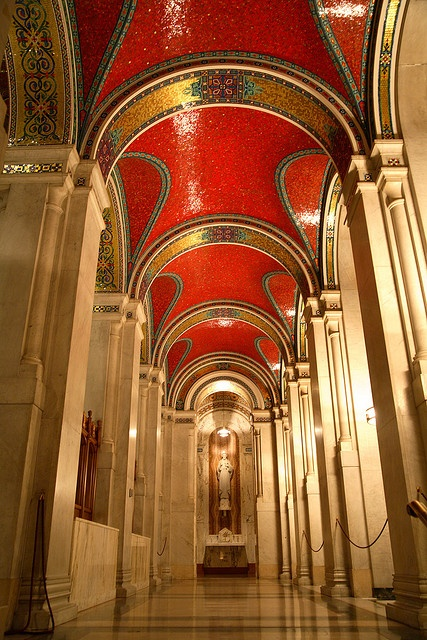 Cathedral Basilica of St. Louis - I thought the red mosaic ceiling was breathtaking.