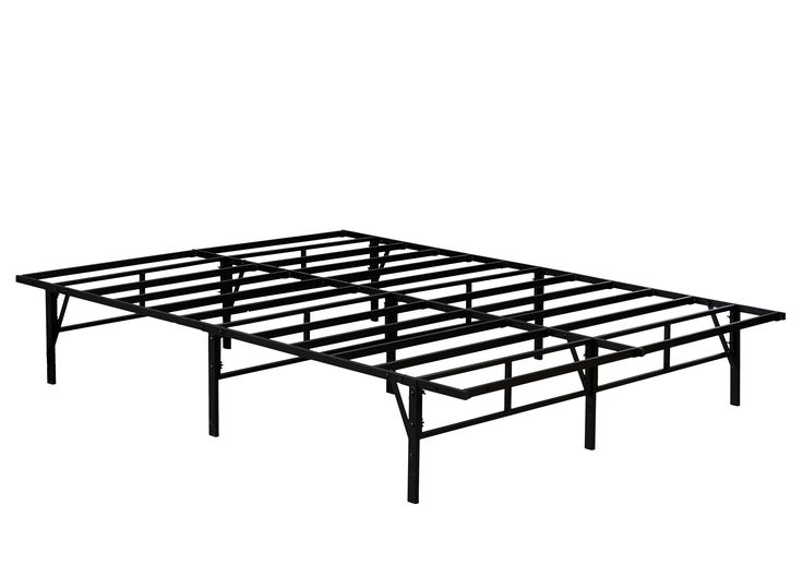 Metal Slat Queen Heavy Duty Bed Frames With Rounded
