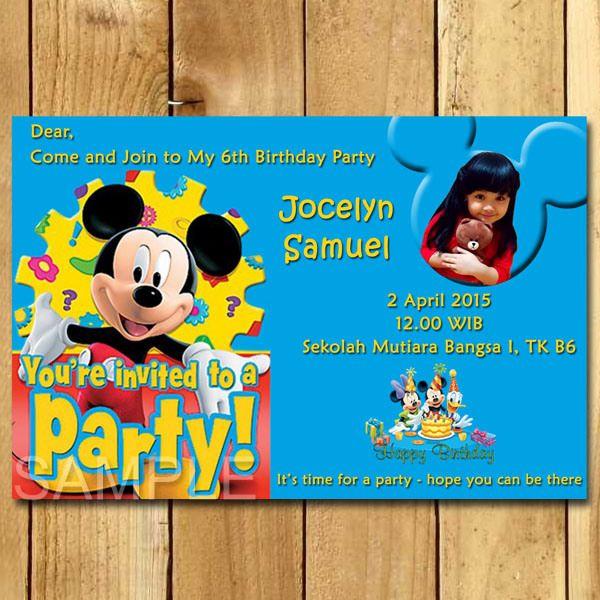 Kartu Undangan Ulang Tahun Mickey Mouse