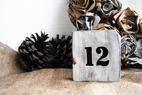 Rustic Wedding Table Numbers Rustic Wedding Decor Wooden