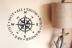 Image result for not all who wander are lost compass tattoo
