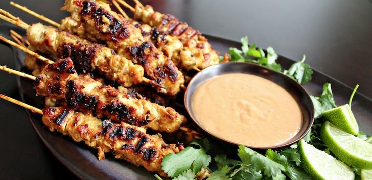 Grilled Chicken Satay With Peanut Sauce | Delicous gluten free recipe ...