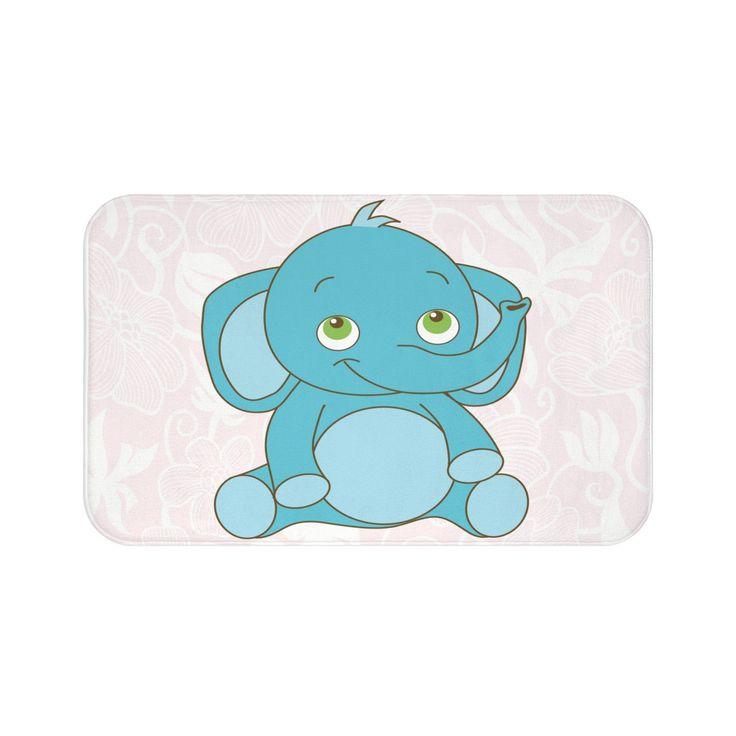 Baby Elephant Designed Bath Mat
