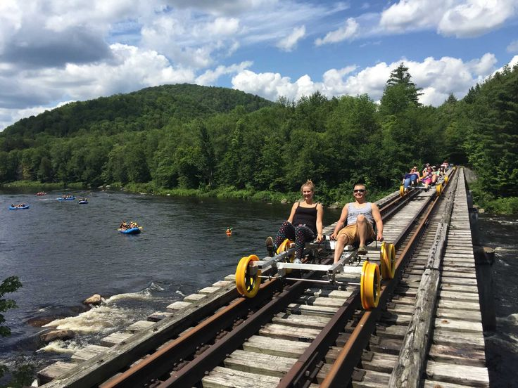 You can take the train from Saratoga Springs to North Creek, and now you can pedal your way farther into the Adirondacks, thanks to a startup company that offers so-called rail bike tours: Revolution Rail Co.