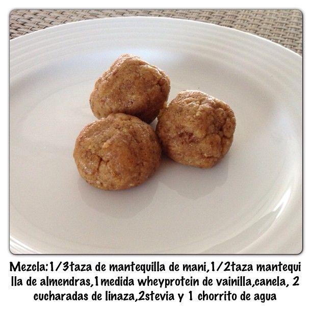Bolitas proteicas! Ideales para merendar! Puedes comer 2-3 - @saschafitness- #webstagram