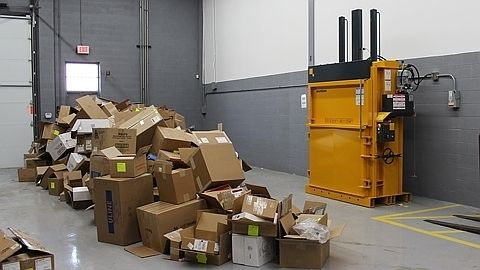 Bramidan B6030 60 inch mill size vertical baler for cardboard