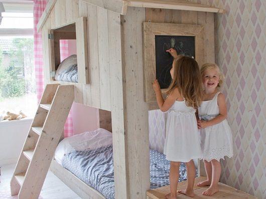 Camas infantiles originales con forma de casa mamidecora - Camas infantiles originales ...