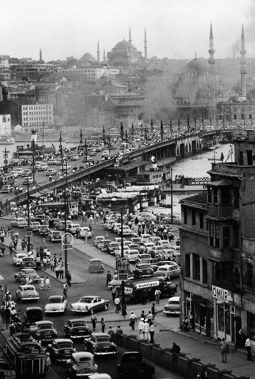 karaköy, 1954 fromara güler'sistanbul