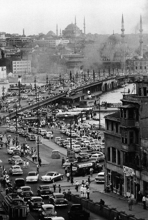 karaköy, 1954 from ara güler's istanbul Turkey