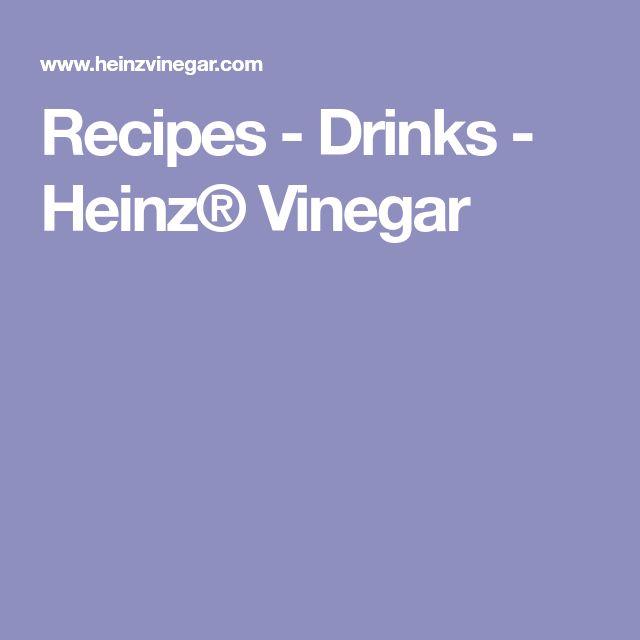 Recipes - Drinks - Heinz® Vinegar