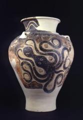 Clay pithos (storage jar) with octopus design Cretan, H: 74.5 cm. Late Minoan period II (about 1450 BC). AN1911.608. Ashmolean.
