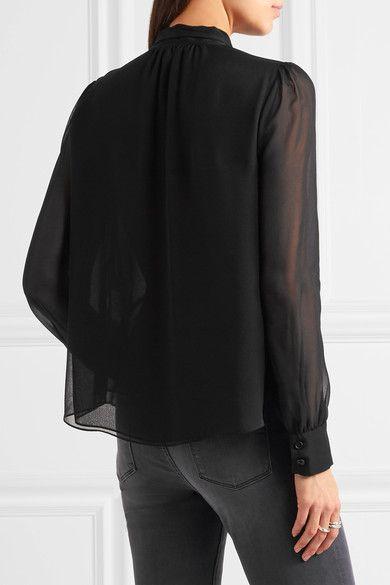 Diane von Furstenberg - Alvanna Pussy-bow Silk-chiffon Blouse - Black - US14