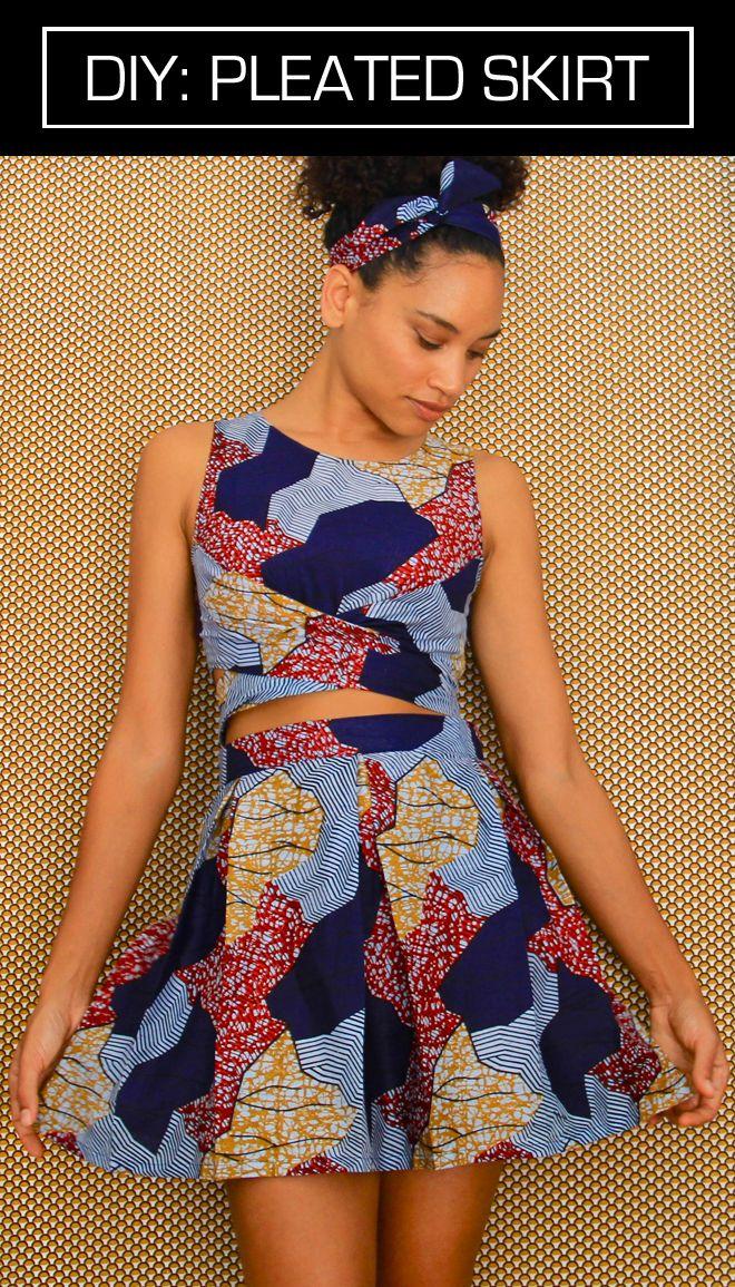 AFRICAN PLEATED SKIRT DIY