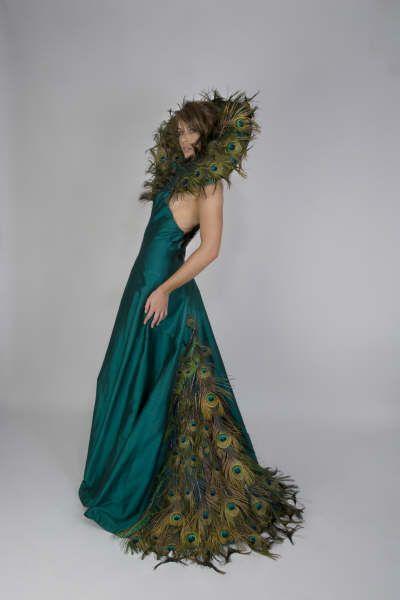 Peacock dress http://www.arcarocouture.com.au/