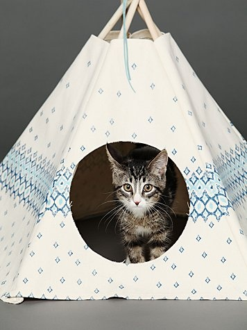 Printed Cat Teepee...so adorable!