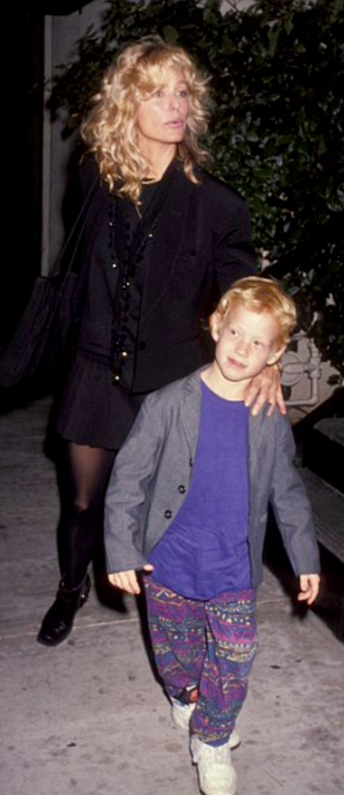 Farrah Fawcett with her son Redmond
