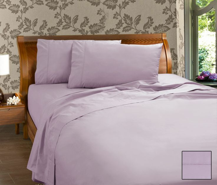 PERCALE SHEET SET - KINGDOM COLLECTION 50/50 cotton polyester 225 Thread Count  Fitted with 38 cm wall