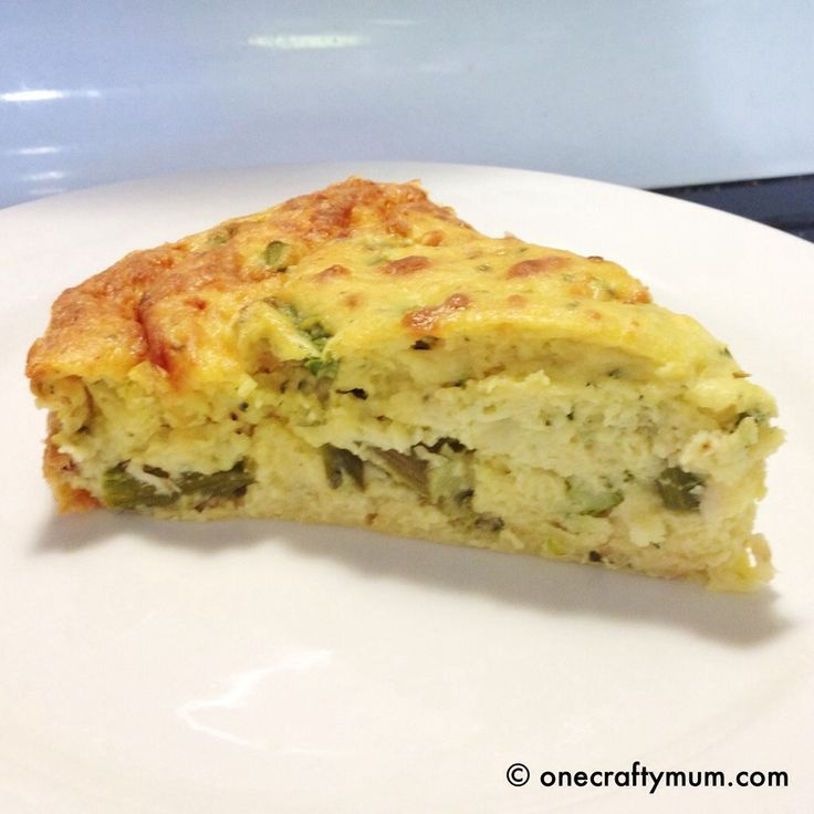 Chicken and Asparagus crustless quiche