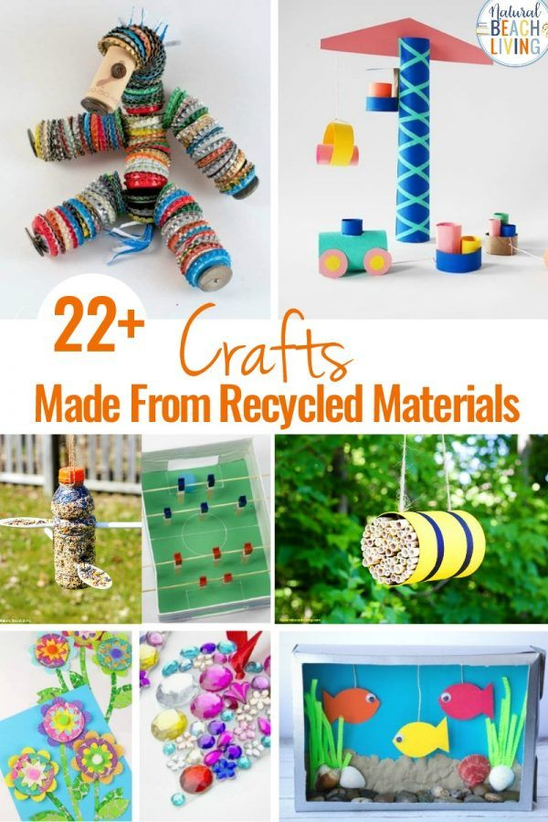 25 Crafts Made From Recycled Materials Natural Beach Living