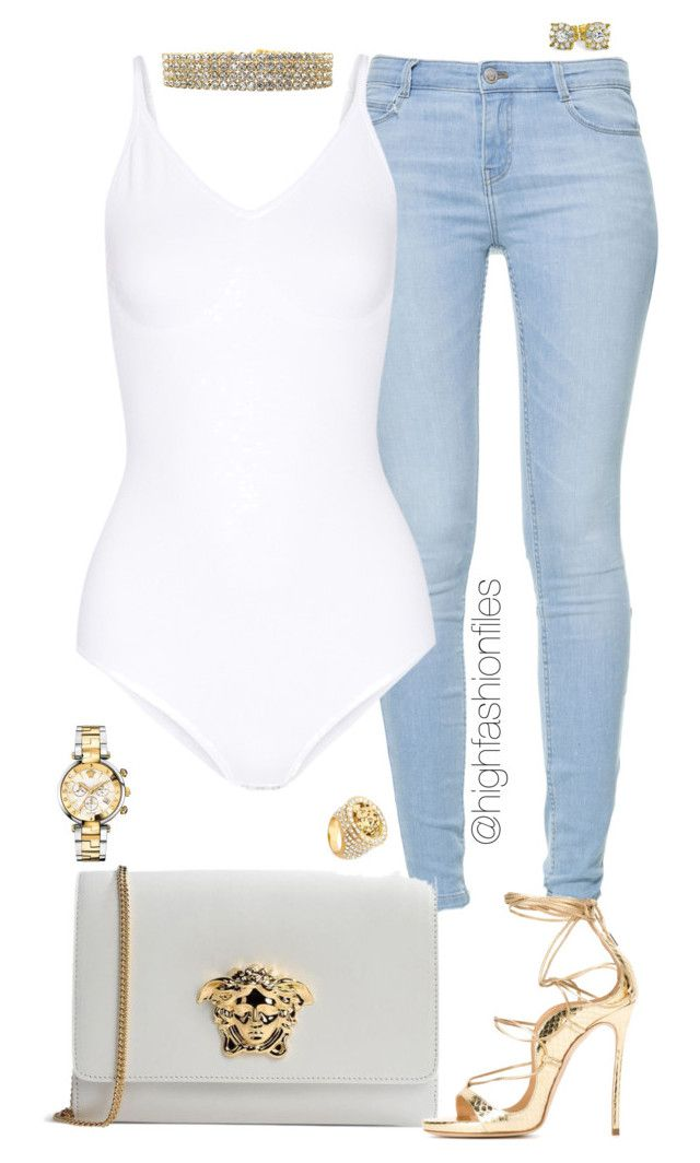 """""""Diamonds"""" by highfashionfiles ❤ liked on Polyvore featuring Zara, Yummie by Heather Thomson and Versace"""