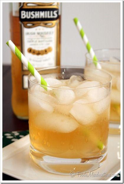 Irish Maiden Cocktail: 3 shots Irish whiskey  1 shot honey simple syrup (recipe below)  1 shot grapefruit juice, fresh squeezed  Splash of ginger ale  For the Honey Simple Syrup:  ¼ cup honey  ¼ cup water