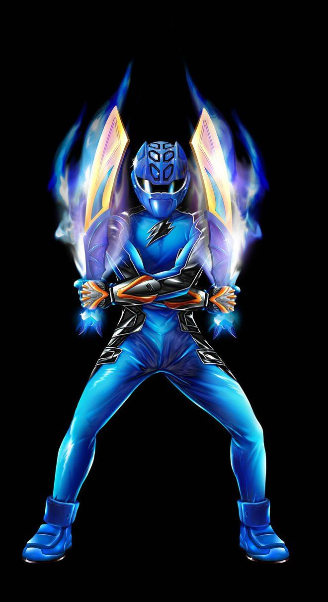 POWER RANGERS JUNGLE FURY - BLUE RANGER by DXPRO