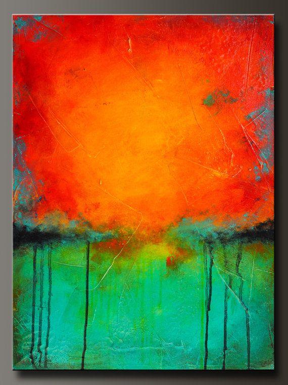 24 X 18 abstrakten Acryl-Malerei moderne von CharlensAbstracts