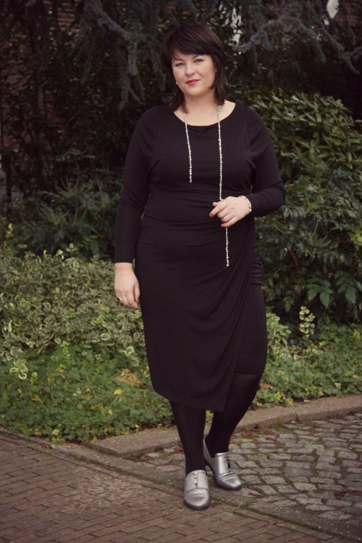 Zizzi black label zwarte jurk