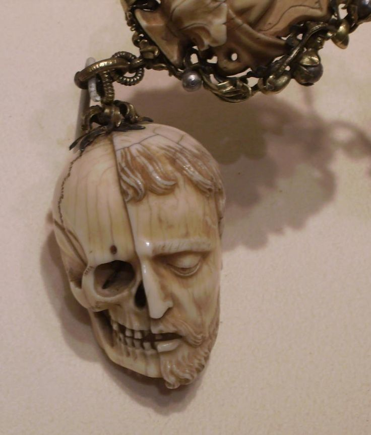 An Example of a Memento Mori hung on a Rosary, Carved from Ivory, c. 16th Century