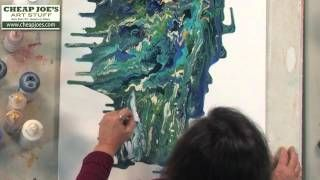 Debbie Arnold- Pouring Acrylic Skins by Dripping Method, via YouTube.