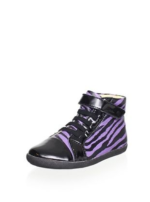 52% OFF Old Soles Kid's Bondi Hi-Top (Purple Zebra/Black Patent)