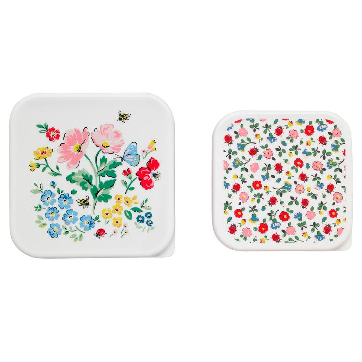 cath kidston, meadow set of two lunch box squares.