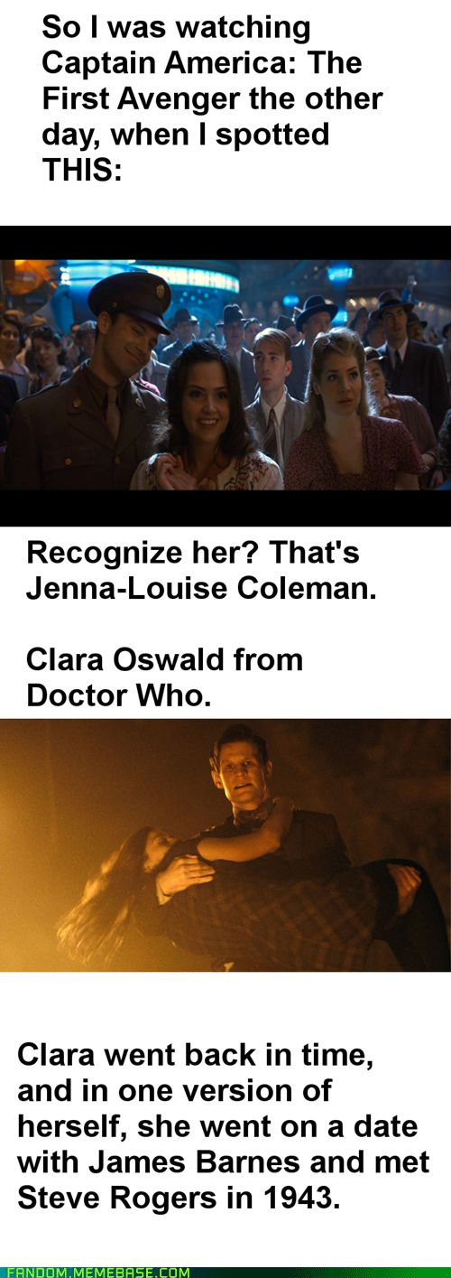 I did notice this :)) This means that Doctor Who and the Avengers are in the same universe. Maybe she's one of the timey-wimey reasons the Doctor can't go back to New York.
