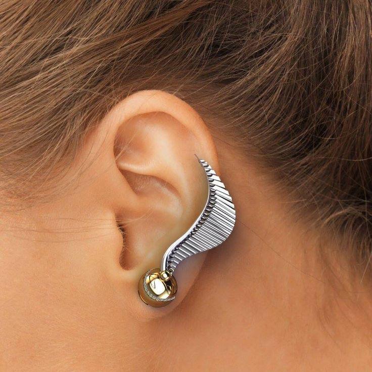 Golden snitch earring <3