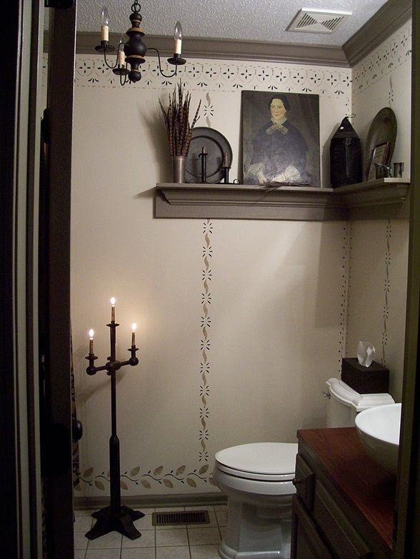 252 best primitive/colonial bathrooms images on pinterest
