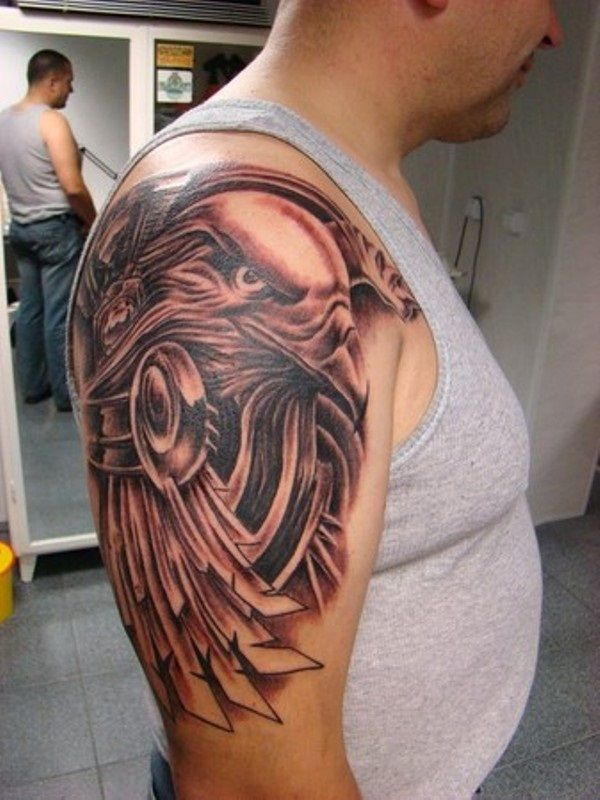Tribal eagle tattoo for men tattoo favs pinterest for Eagle tattoo arm