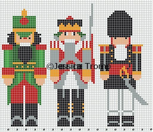 Nutcrackers cross-stitching:
