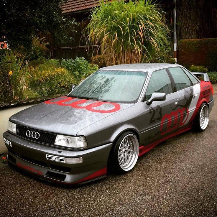 Audi B3 90 Sport Quattro (1987-1992) Der Audi 90 Quattro Sport wurde mit einem zuverlässigen 5-Zylinder-2,3-Liter-20-V-Motor geliefert, der das Geschäft anspricht. Es kam mit 170 PS und es ist eine Schande, dass wir sie nie mehr sehen. Wie ist es für dich? ? Kennzeichnen Sie Ihre? freunde. . #somedayclassics #audi_official #audi #quattro #rallye #racing #bbswheels #dtm #car #cars #stunning #amazing #wow #clean #cargram #stance #ingolstaed   – Fahrzeuge