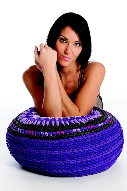Moroccan Style Footstool by Victoria Stott - not sure about the semi-clad model though!: Victoria Stott, Crochet Stuff, Crochet Covers, Styles Footstool, Moroccan Styles, Moroccan Crochet Cushions, Semi Cladding Models, Crochet Patterns, Crochet Idea