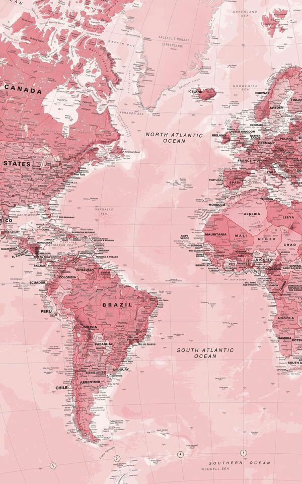 wallpaper, pink, and map ... 600