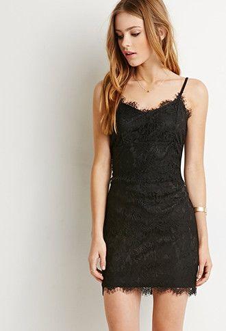 Eyelash Lace Cami Dress   Forever 21 - 2000155153